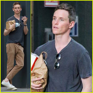 Eddie Redmayne Chats on the Phone During a Day Out in East Village