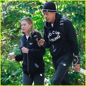 Ellen Pompeo & Husband Chris Ivery Get In Some Exercise on Morning Hike