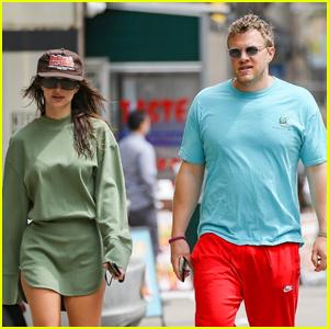 Emily Ratajkowski & Sebastian Bear-McClard Couple Up for Morning Walk in NYC