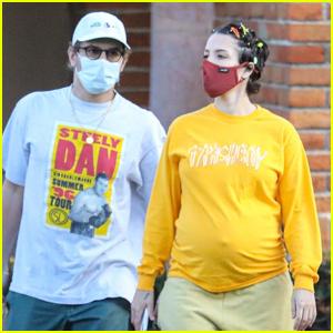 Pregnant Halsey Runs Errands with Boyfriend Alev Aydin in Malibu
