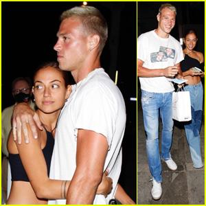 Inanna Sarkis Cuddles Up with Boyfriend Matthew Noszka After Dinner in West Hollywood