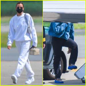 Irina Shayk & Kanye West Arrive Back in NYC After Romantic Getaway in France