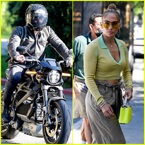 Jennifer Lopez Spotted Back in L.A., Ben Affleck Seen Leaving Her House on Motorcycle
