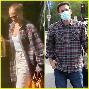 Jennifer Lopez Spotted Wearing Ben Affleck's Shirt While Traveling