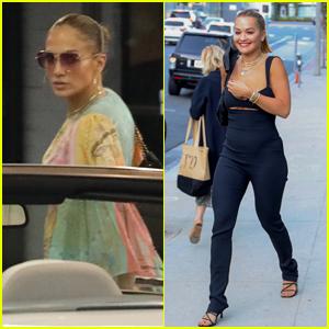 Jennifer Lopez & Rita Ora Have a Business Meeting at Soho House