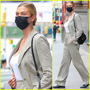Karlie Kloss Suits Up for Morning Meeting in Manhattan