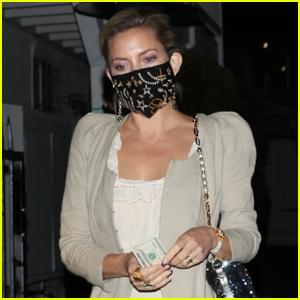 Kate Hudson Steps Out in a Silky Dress for Dinner in Santa Monica