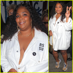 Lizzo Rocks a Button-Down While Out to Dinner With Friends in West Hollywood