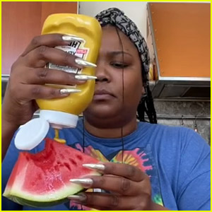 Lizzo Tries the Watermelon & Mustard Challenge on TikTok - See Her Reaction!