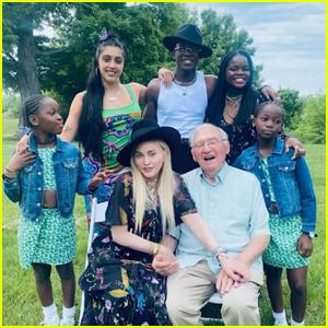 Madonna & Her Kids Celebrate Her Dad's 90th Birthday