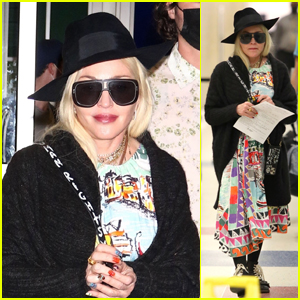 Madonna Arrives Back in NYC After a Big Family Reunion