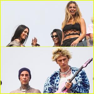 Megan Fox, Kourtney Kardashian, & Addison Rae Attend Machine Gun Kelly & Travis Barker's Rooftop Concert!