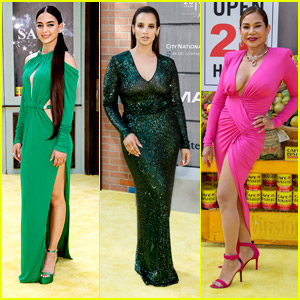 Melissa Barrera Looks Beautiful In Green At 'In The Heights' Premiere With Dascha Polanco, Daphne Rubin-Vega & More!