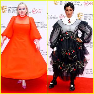 'Bridgerton's Nicola Coughlan & Golda Rosheuvel Step Out In Chic Style at BAFTA TV Awards 2021