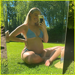 Perrie Edwards Shows Off Growing Baby Bump In Cute New Selfies
