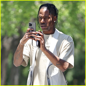 Travis Scott Drives Dangerously on Camera While Going to See His Daughter Stormi
