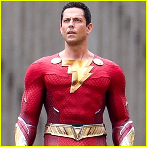 Zachary Levi Suits Up in His Brand New Superhero Costume for First 'Shazam 2' Set Pics!
