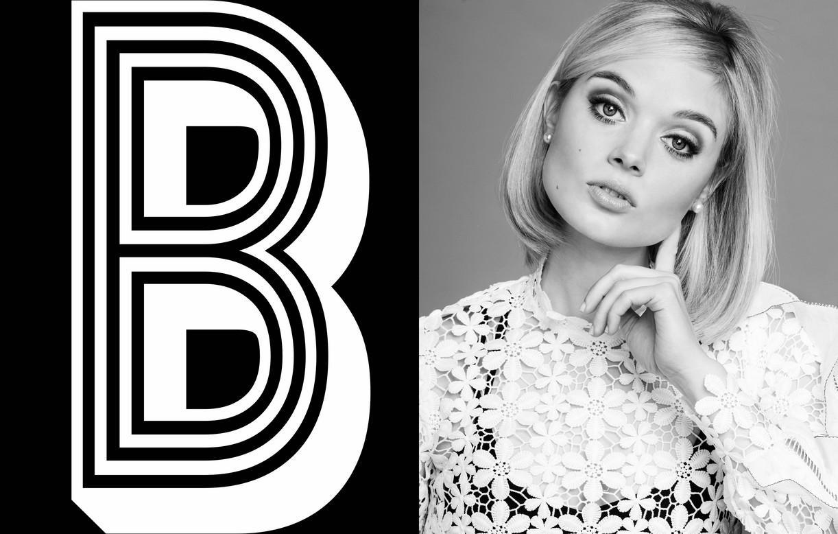 Bella Heathcote black and white portrait